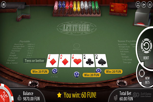Let It Ride Poker - Casino Games | Online-Casino.ie