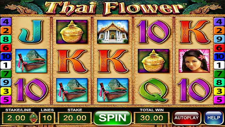 Slot Machine Game: Thai Flower | Online-Casino.ie