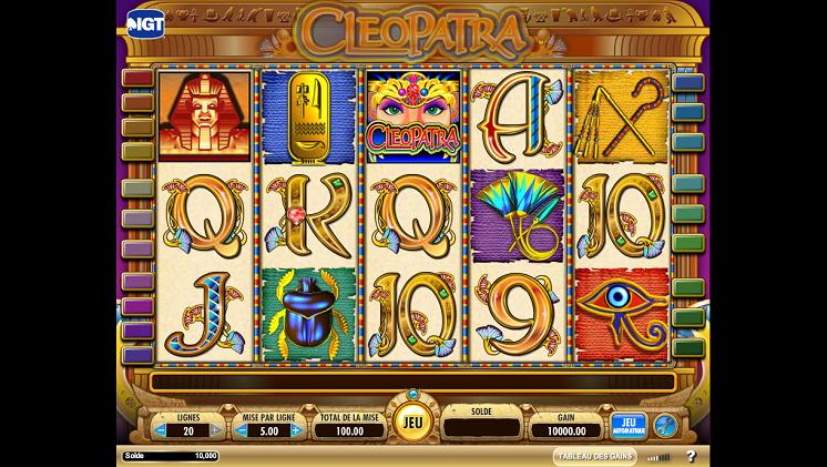 Cleopatra slot machhine